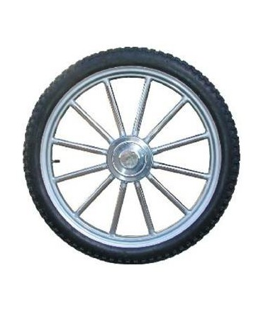 Roue complète pneumatique à rayons droits, roue inox