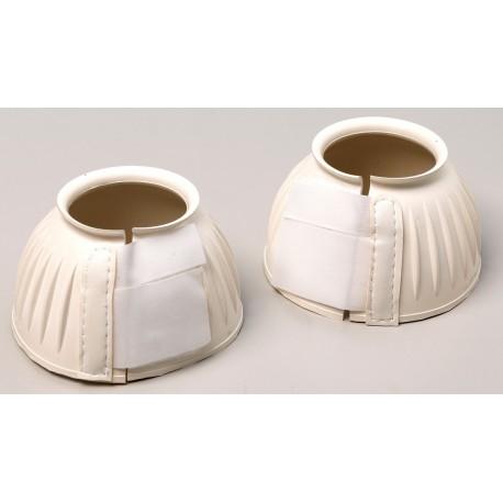Cloches caoutchouc striées - Fermeture par velcro - La paire