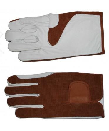 Gants d'attelage cuir/textile