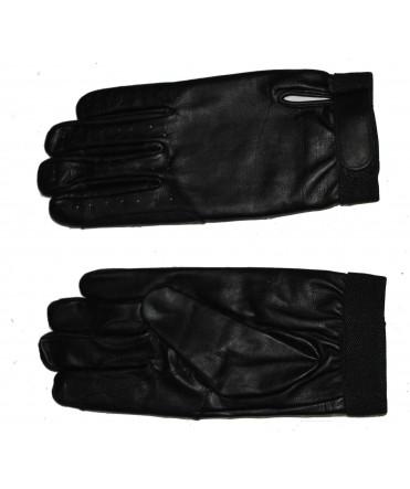 Gants d'attelage en cuir noir