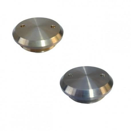 Capuchon de roue plat, alu ou laiton