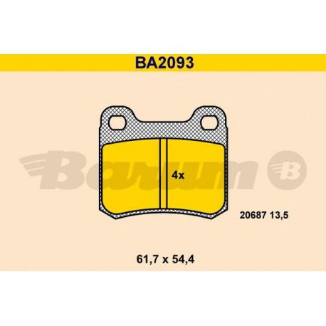 Plaquettes de frein Barum BA2093