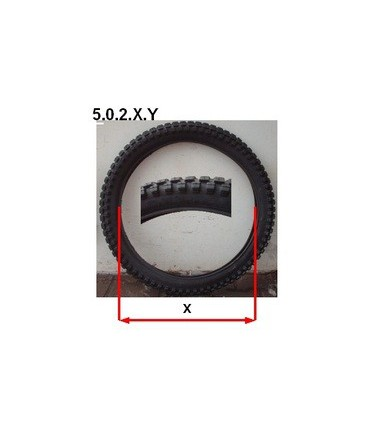 """Lot de 4 pneus 27"""" x 3.50 + 4 chambres à air"""
